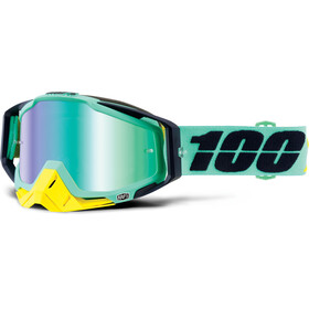 100% Racecraft Anti Fog Mirror goggles groen/zwart